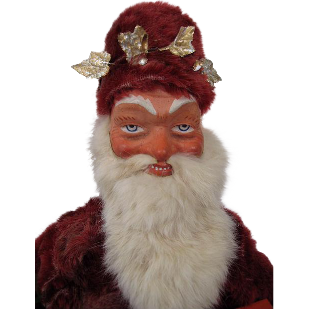 "Fabulous Fare Large 25"" Santa or Father Christmas Candy Container"