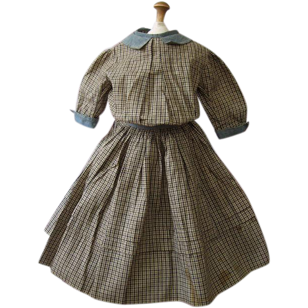 Superb Turn of the Century Doll Dress
