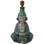 Exotic and Beautiful Porcelain Vintage Perfume Bottle Excellent Detailing Gilded Crown Top
