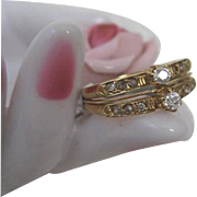 Victorian Twin Diamond Ring