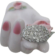Art Deco Period Diamond and Platinum Ring
