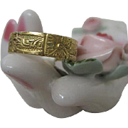 Victorian Carved Gold Band Ring