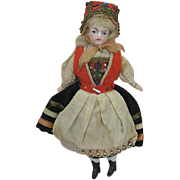 All Original Antique German Bisque Doll with Cloth Body