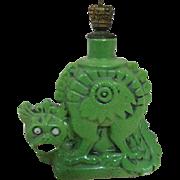 Rare Jade Colored Porcelain Vintage Antique Perfume Bottle Dragon Asian Influence
