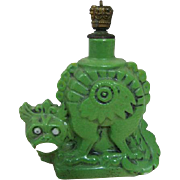 Rare Jade Colored Porcelain Vintage Antique Perfume Bottle Dragon Asian Influence