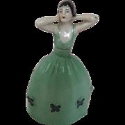 Sweet Petite Porcelain Bottle Woman Art Deco