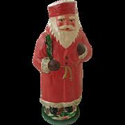 Unique Vintage Pressed Cardboard Papier Mache Father Christmas Santa Candy Container