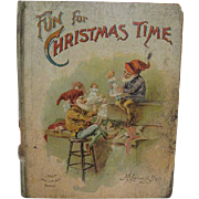 McLoughlin Fun for Christmas Copyright 1899 Book with Elves Making Dolls