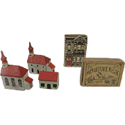 Vintage Antique Holiday Miniature Toy Houses