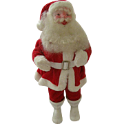 Charming Vintage Santa Clause Figure Circa 1960s Red Velour Suit All Original