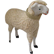 Vintage Woolly German Lamb Sheep with Stick Legs