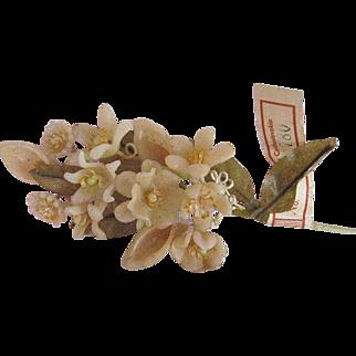 Vintage Czech Wax Sprig with Original Paper  Label