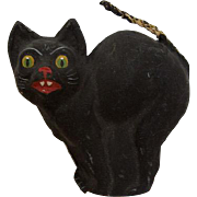 1920s German Halloween Noisemaker Party Horn with Black Cat