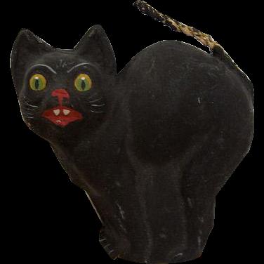 1920s German Halloween Noisemaker Party Horn with Black Cat