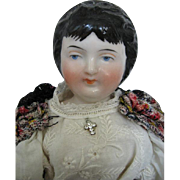 Kister Antique China Doll Youth and Old Age Two Faces Lovely Condition