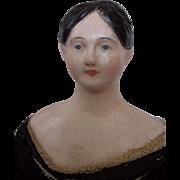 1840s Rare Papier Mache Doll from Santa Barbara Museum of Art