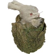 Roullet & Decamps Automaton Rabbit Hiding in Silk Leafy Lettuce Head