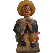 Black Forest Whistler Clockwork Automaton from Santa Barbara Museum of Art Circa 1920s-1930s
