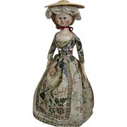 Circa 1760s-1790s Georgian Wooden Doll Nice Example Impressive Large Size