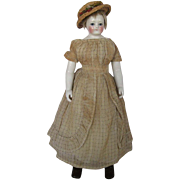 Beautiful Early Rohmer Early French Porcelain Doll on Marked Brevette Body