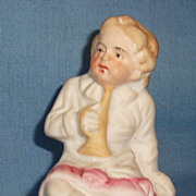 German All Bisque Doll or Doll's Miniature Figurine