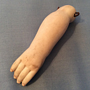 Antique Bisque Arm for German or French Doll Parts