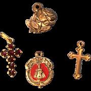 Tiny Religious Doll Jewelry Necklace Pendant Cross etc