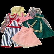 Vintage Doll Clothes c.1950s Jumper Dress Skirt Slip