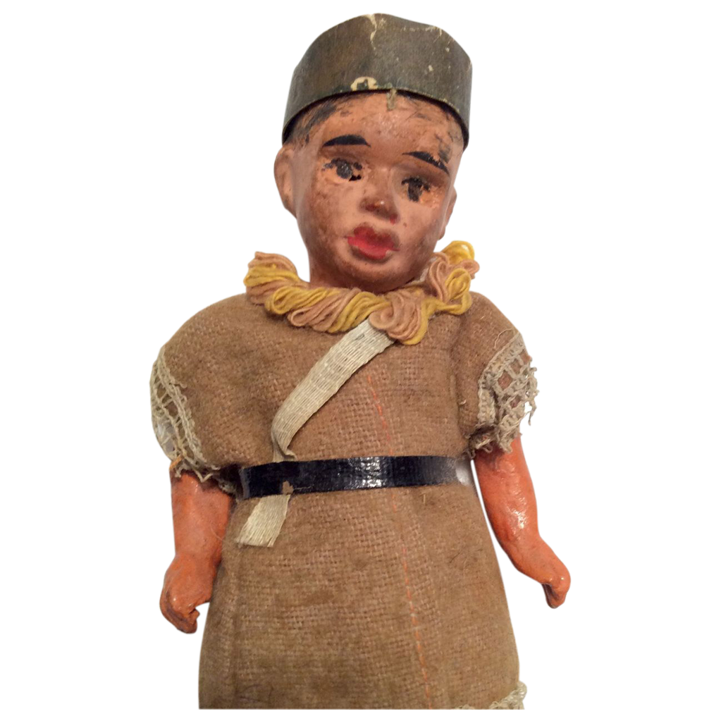 antique papier mache native american indian style german doll from dollsandsmalls on ruby lane. Black Bedroom Furniture Sets. Home Design Ideas
