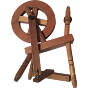 Wood Dollhouse or Doll Spinning Wheel