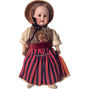 Fully Jointed Original Clothes Antique German Bisque Head Doll