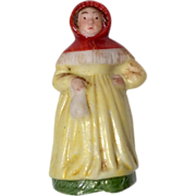 "Tiny 1.5"" German Miniature All Bisque Doll or Dollhouse Figure"