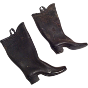 1880 Rubber Doll Size or Salesman Sample Rhode Island Boots