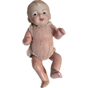 Nippon Bisque Head Character Papier Mache Body Baby Doll