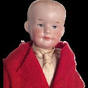 Bisque Character Boy Doll Intaglio Eyes AM 500 like Gebruder Heubach