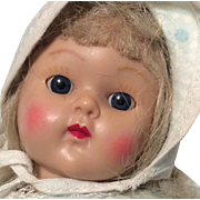 Strung Painted Lash Vogue Ginny Doll 1950s Hard Plastic
