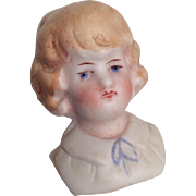 German Bisque Doll Head for Dollhouse
