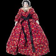 China Head German All Original Antique Dollhouse Doll