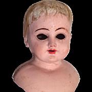 Antique Papier Mache Doll Head