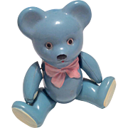 Teddy Bear Rattle Vintage Doll Toy