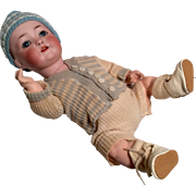 Adorable German Character Bisque Antique Baby Doll