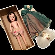 Beautiful Hard Plastic Mary Hoyer Doll Tagged Ballerina Tutu Plus Ballgown Original Box