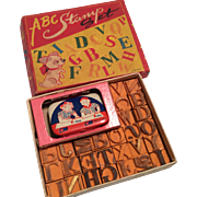 Vintage ABC Stamp Doll or Child Size Original Box