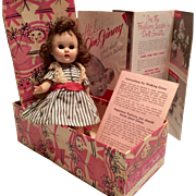 Vogue Ginny Doll Vintage Hard Plastic in Original Box