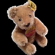Adorable Doll Size Steiff Miniature Teddy Bear with Tag Ear Button