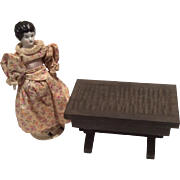 Dollhouse Doll Miniature Wood Table Hinged Box