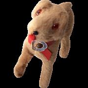 German Miniature Fur Dog Glass Eyes Doll or Dollhouse Size