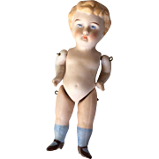 German All Bisque Boy Doll