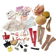 1950s Vintage Fashion Doll Shoes High Heels Hats Undies Hose Stockings etc.