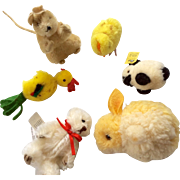 Miniature Doll Size Animal Steiff Mouse Pom Pom Gund Bear
